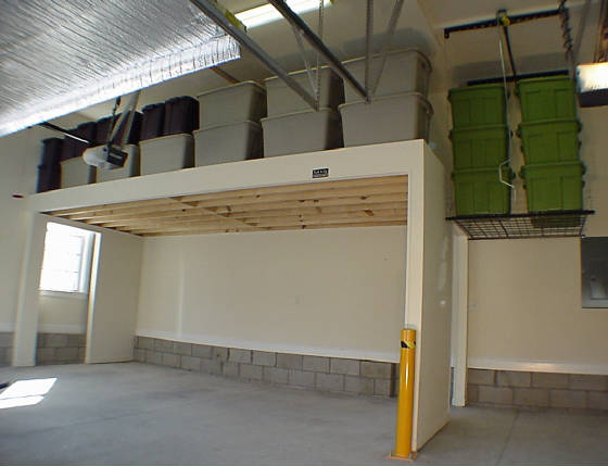 Garage Loft with Hoist