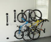 Bikes Tilted to Side in Rack
