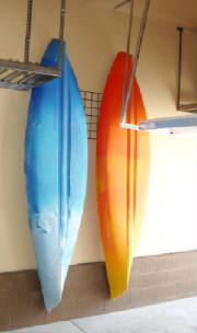 Kayak Hooks for Wall Grid