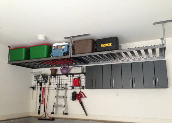 Overhead Storage Loft, Garage Grids and Wall Cabinets