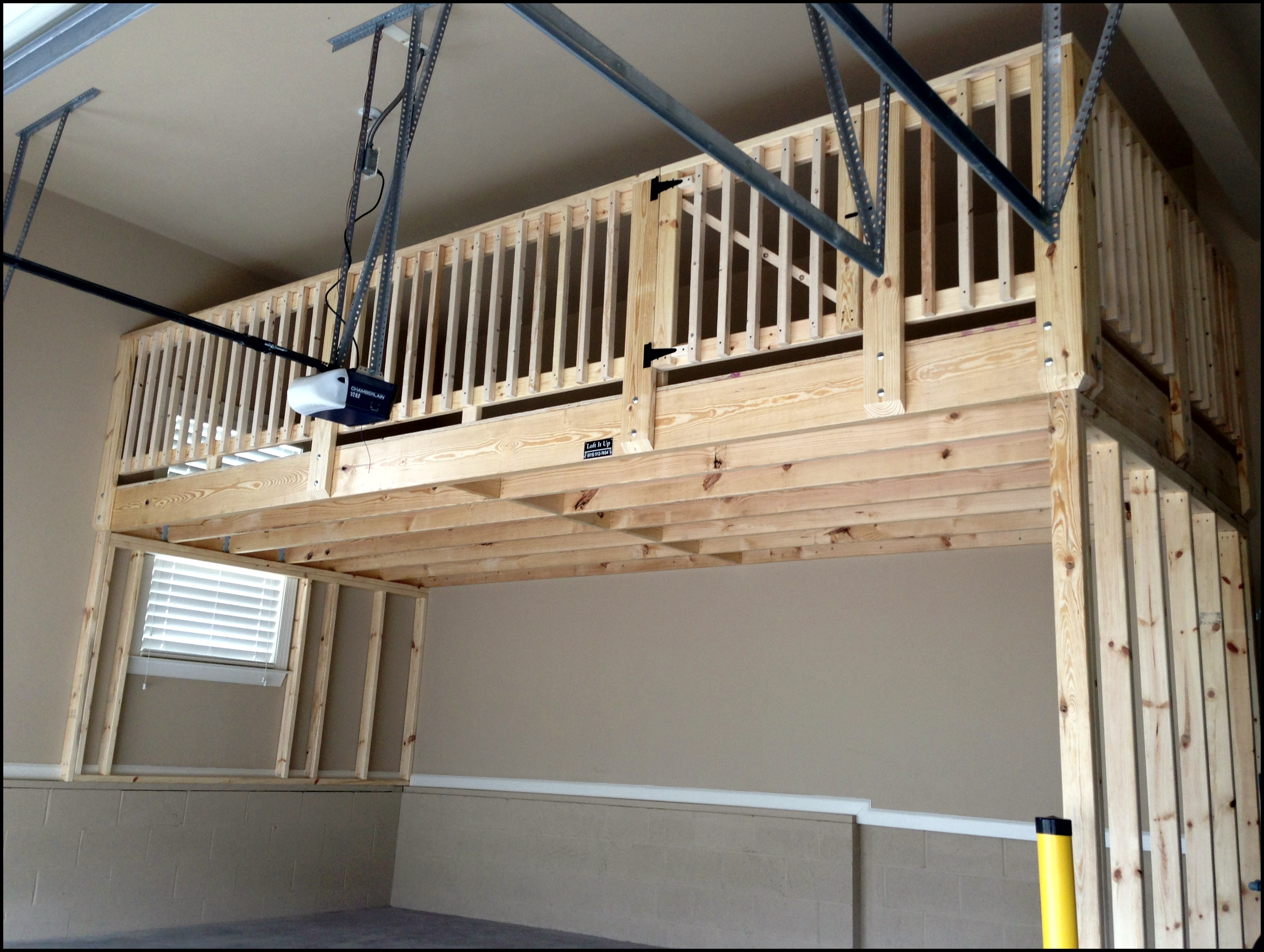Build a mezzanine in garage joy studio design gallery for Diy garage storage loft